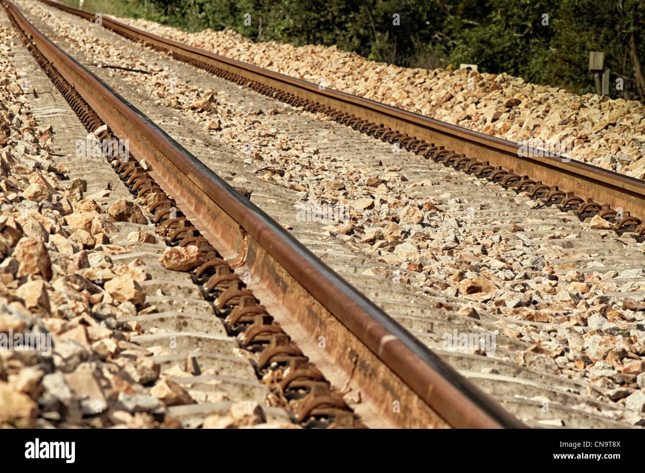 Bild der Eisenbahn Zug Stockbild