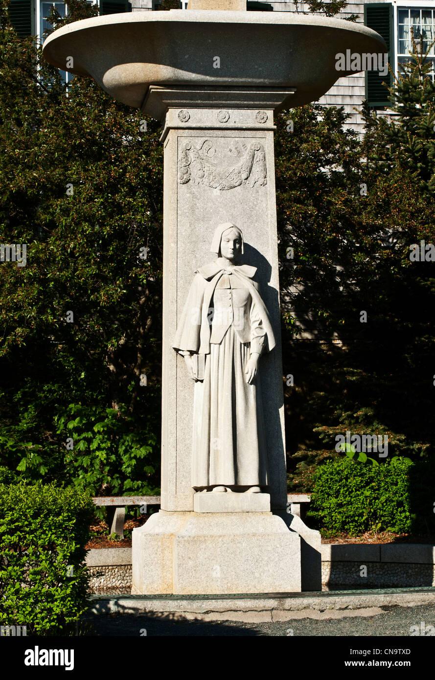 Denkmal für die Mayflower Frauen aka Denkmal der Pilgernden Gottesmutter Paul O. Jennewein-Bildhauer Stockbild