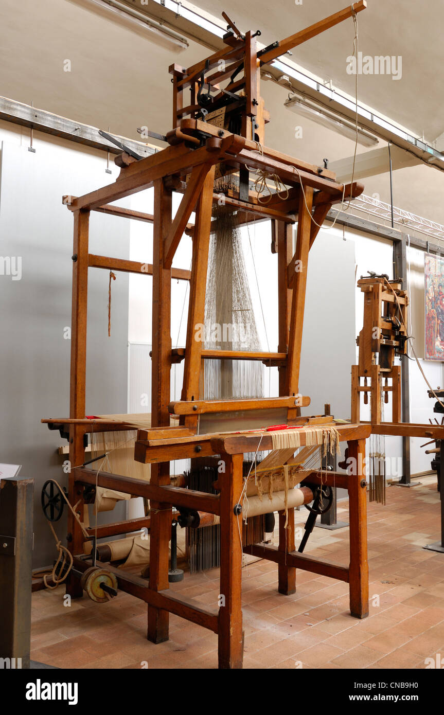 frankreich nord roubaix jacquard webstuhl im museum f r die herstellung des flandres eine. Black Bedroom Furniture Sets. Home Design Ideas