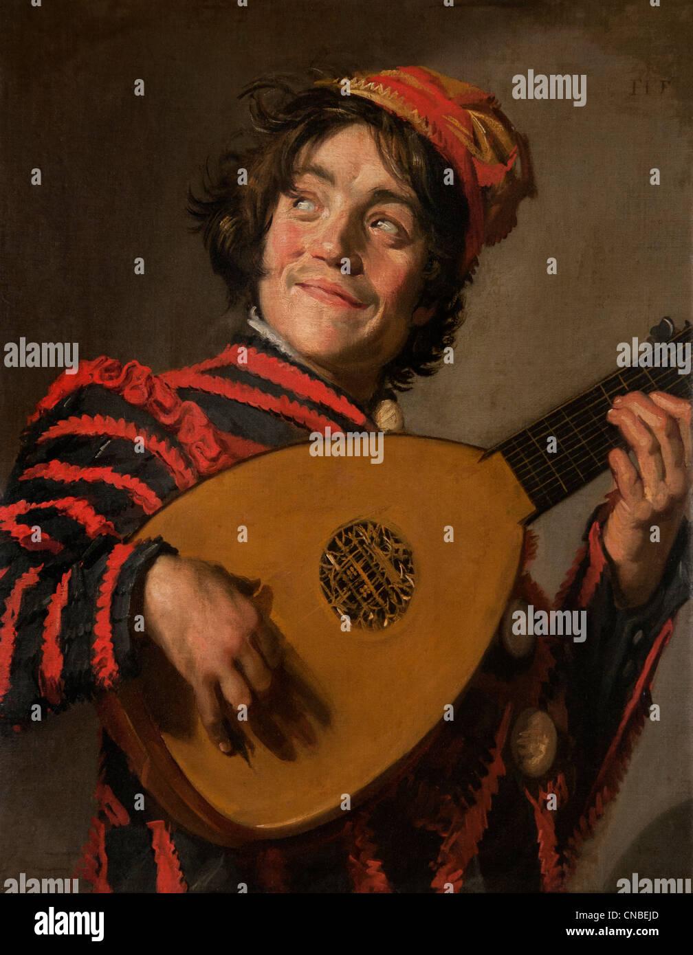 Frans Hals 1582-1666 Jester mit einer Laute Niederlande Niederlande Stockbild