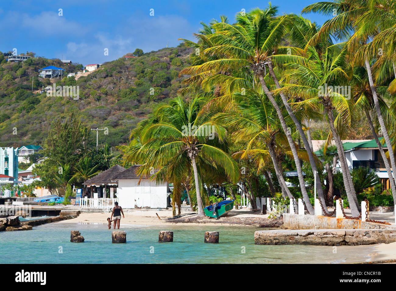 Mittelamerika, Karibik, kleine Antillen, St. Vincent und die Grenadinen, Union Island, Clifton Stockbild