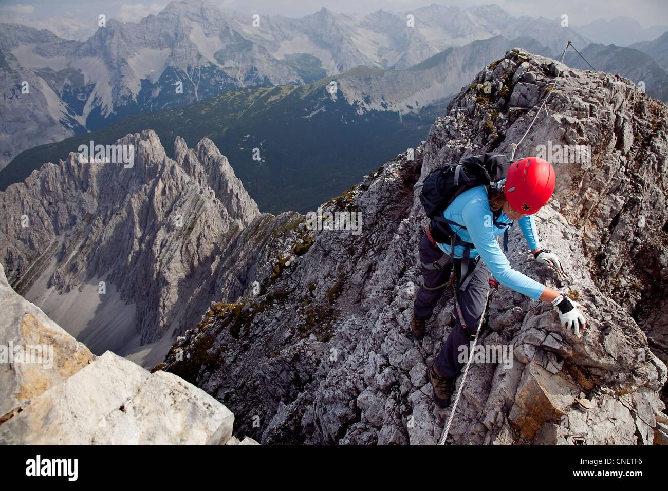 Klettersteig Ferrata : Via ferrata for sporty beginners