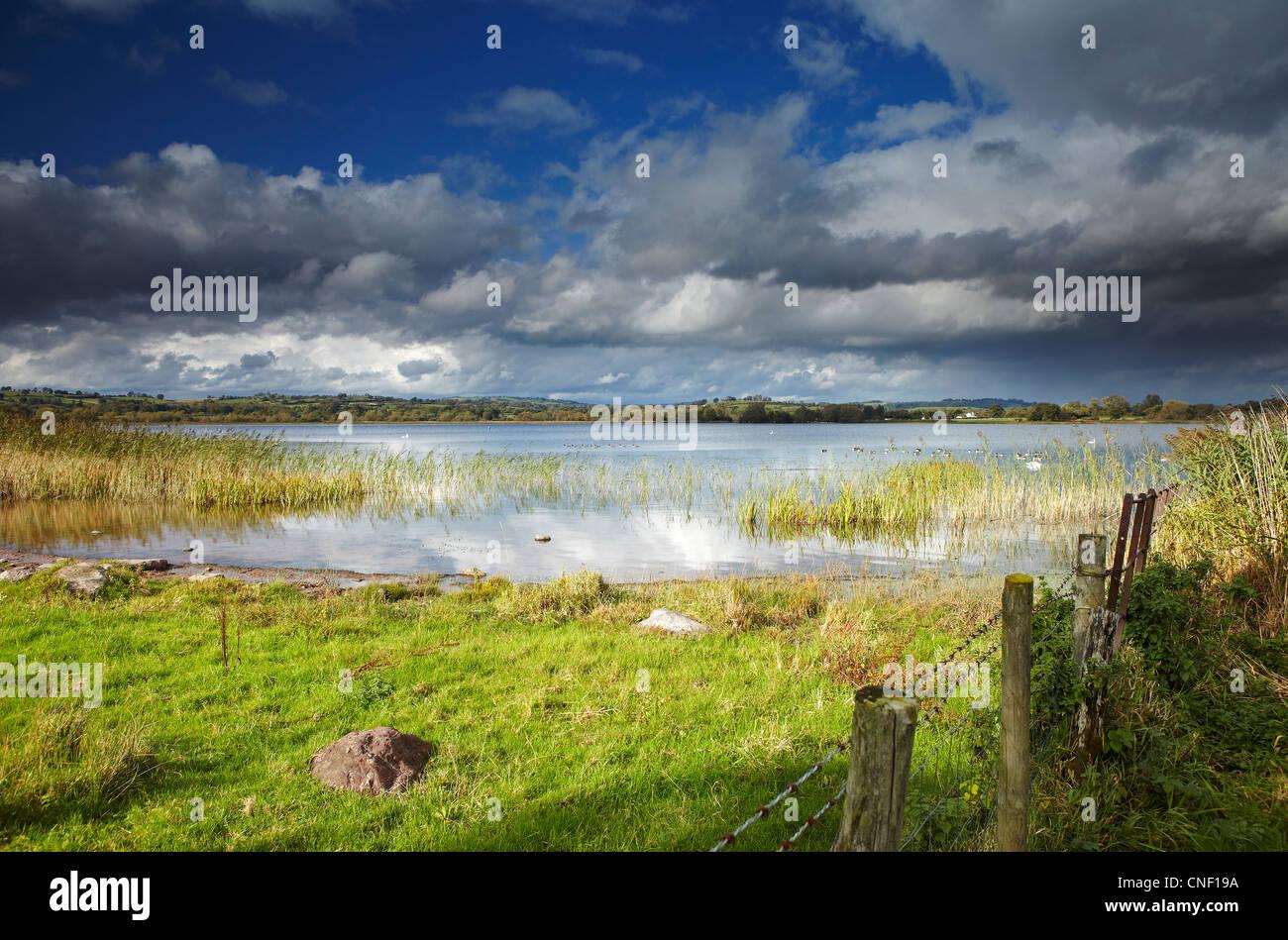 Llangorse See, Brecon-Beacons-Nationalpark, Wales, UK Stockbild