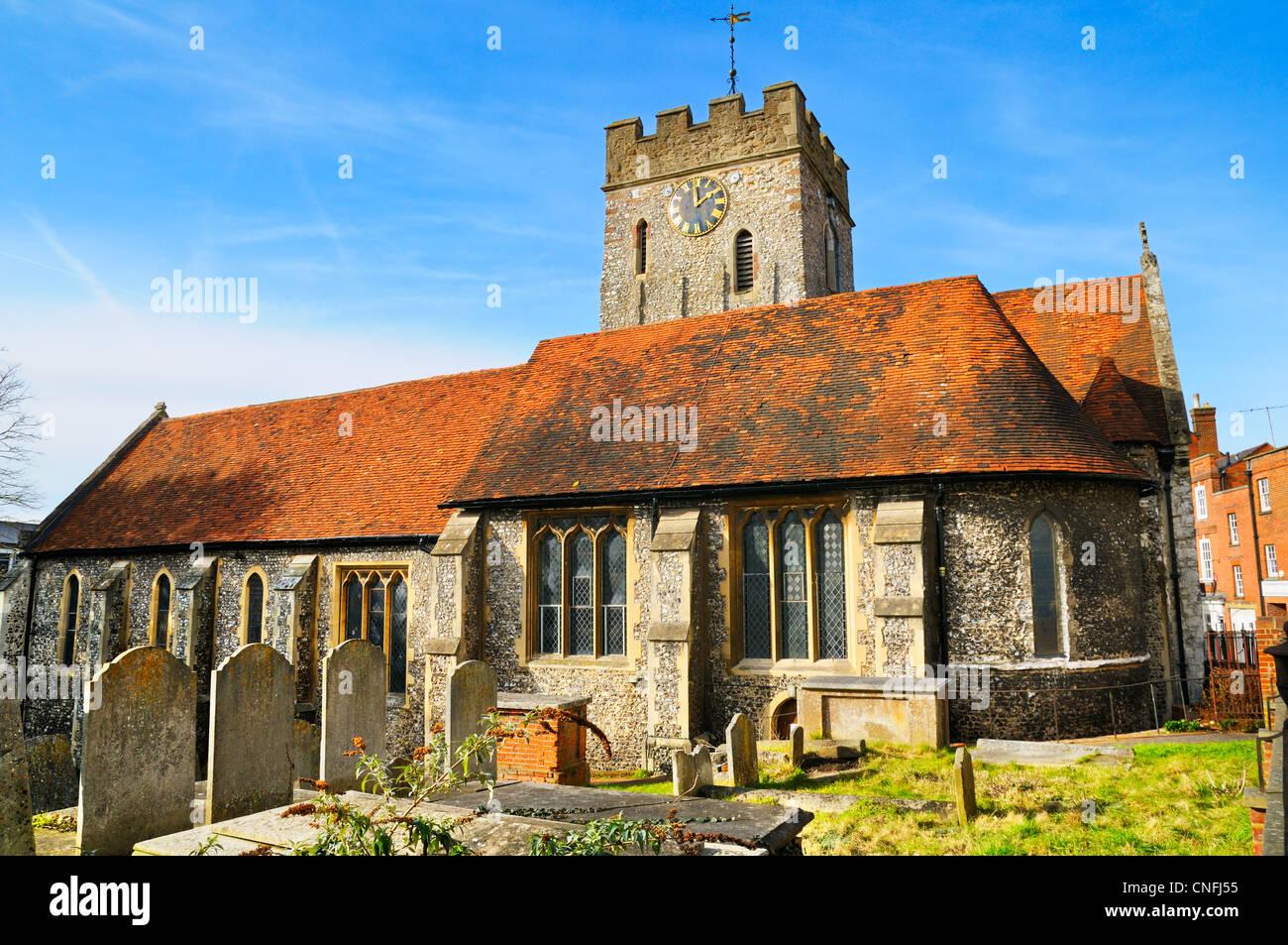 St. Marien Kirche, Guildford, Surrey, UK Stockbild