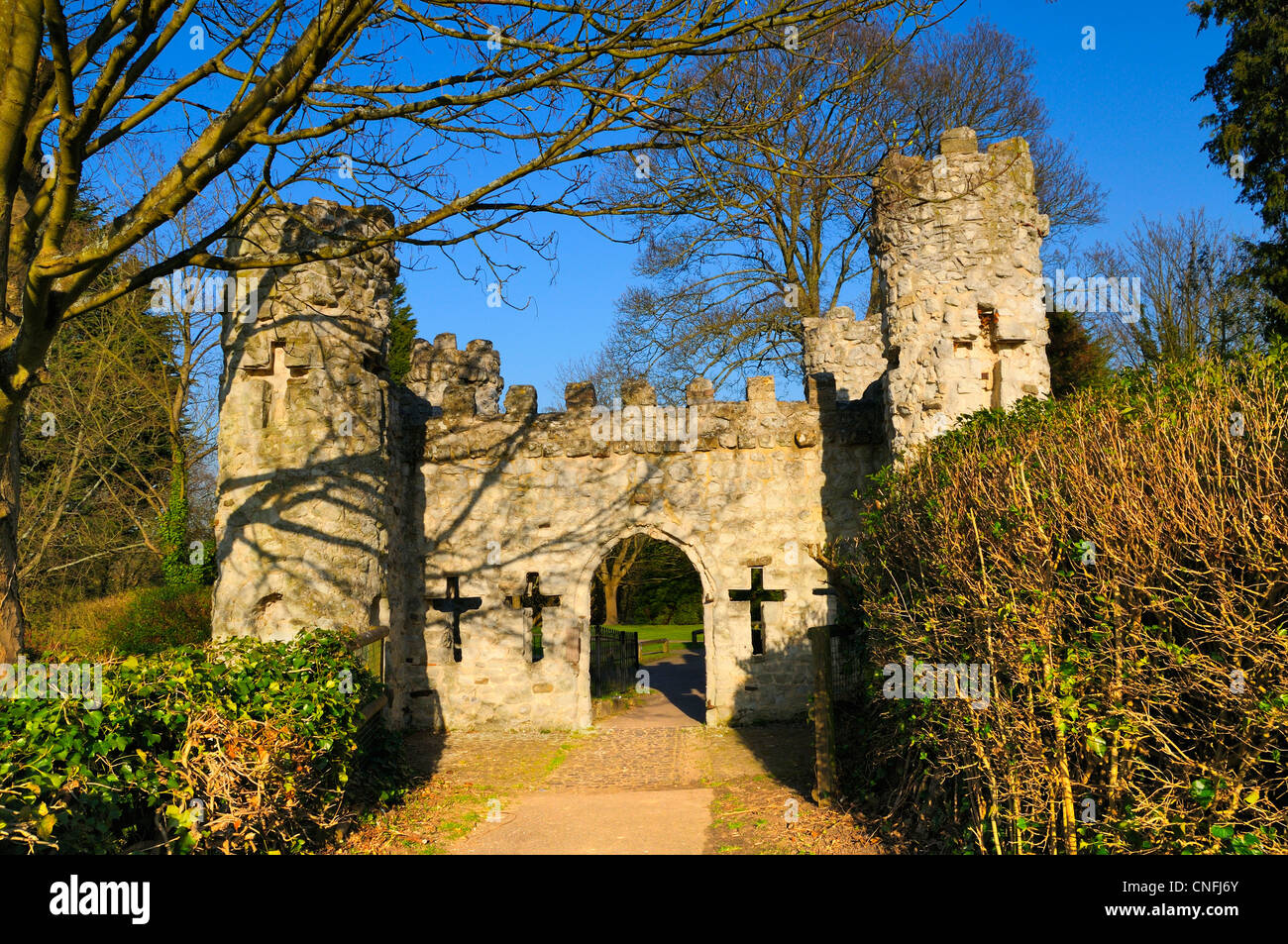 Reigate Schloss, Schlosspark, Surrey, England, Vereinigtes Königreich Stockbild