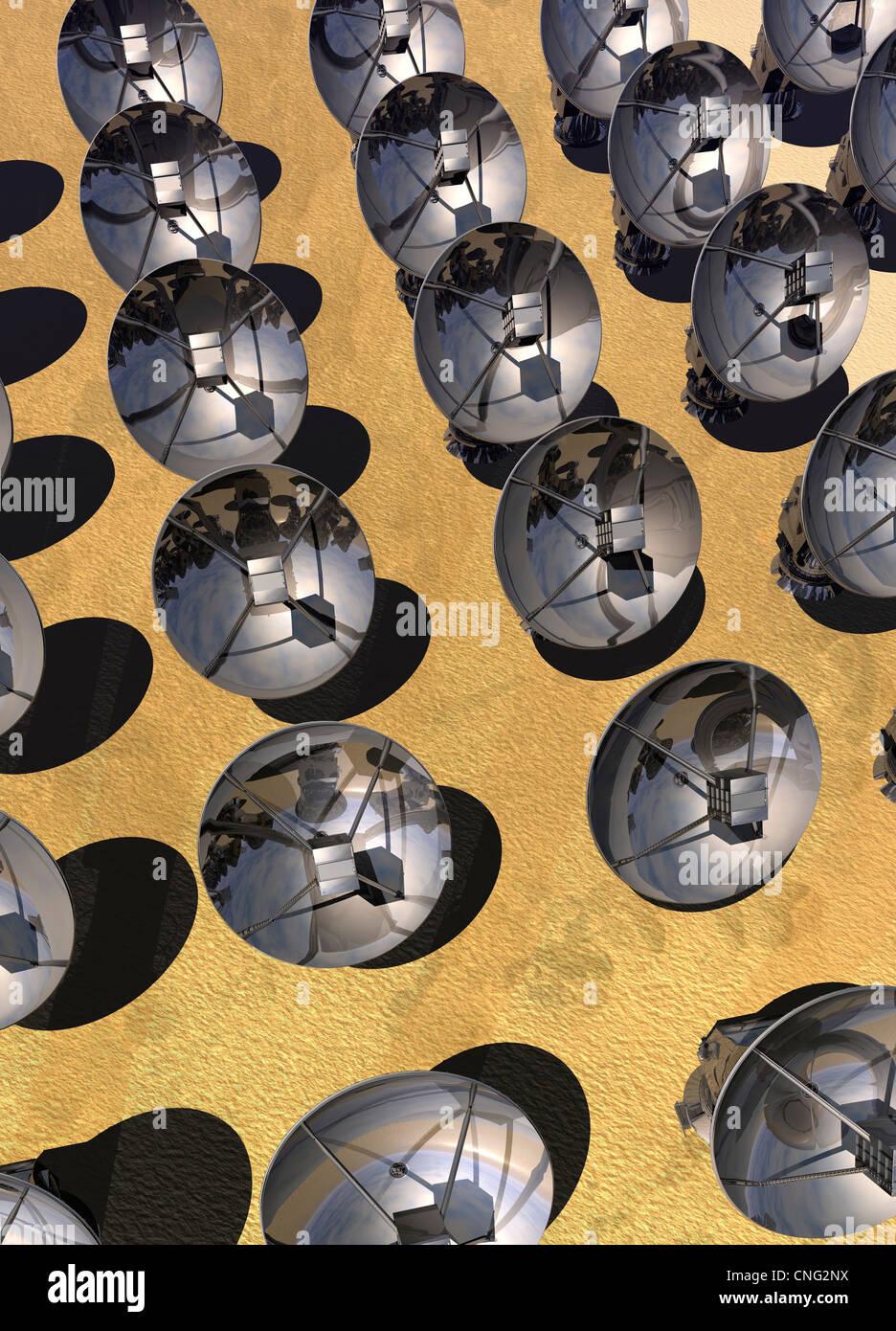 Sat-Array Kunstwerk Stockfoto