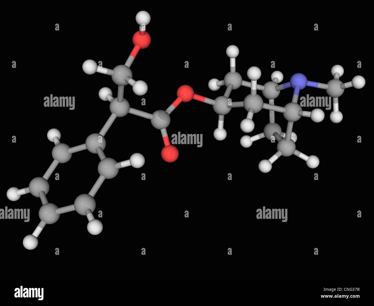 Atropin Wirkstoffmolekül Stockbild