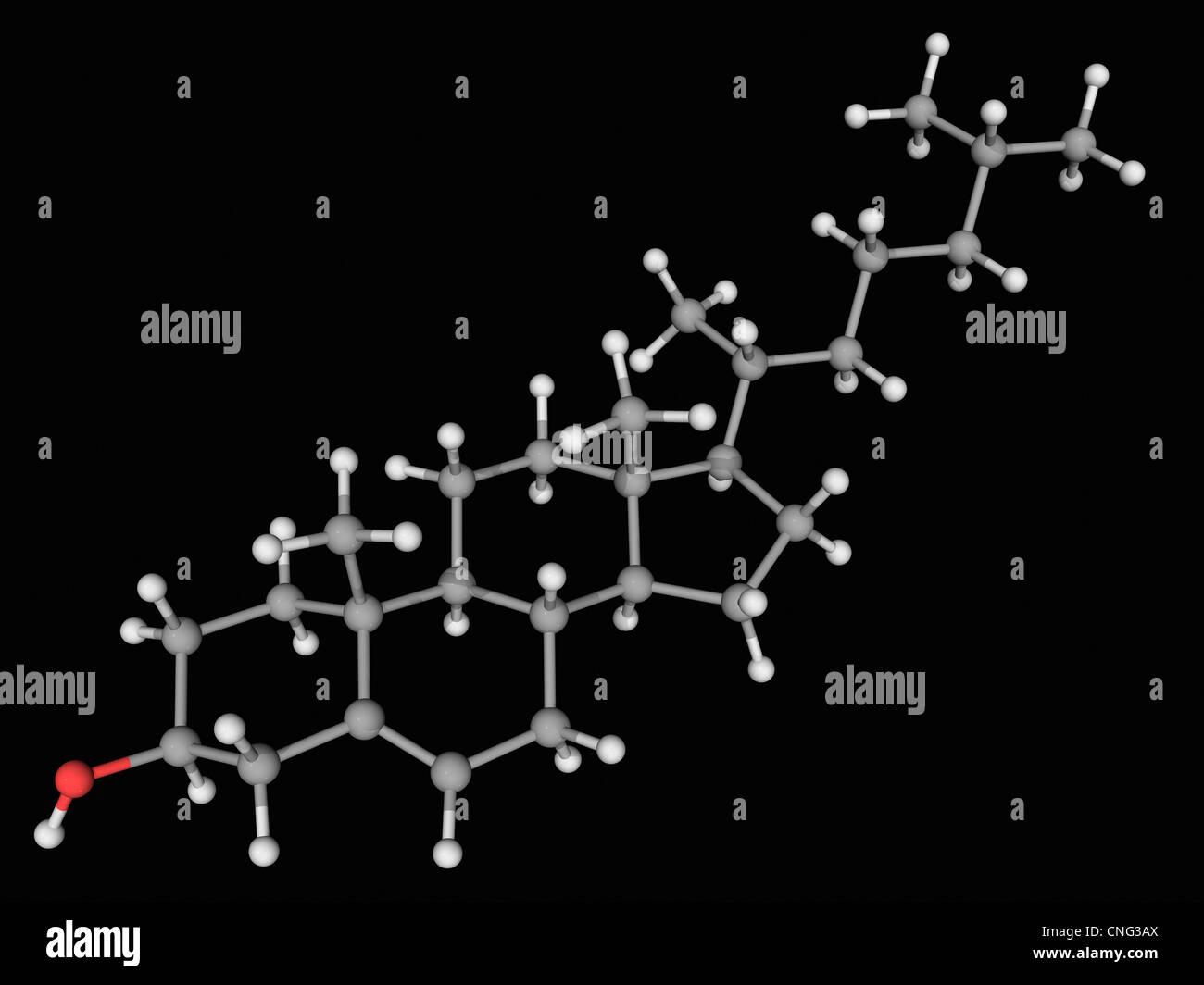 Cholesterin-Moleküls Stockbild