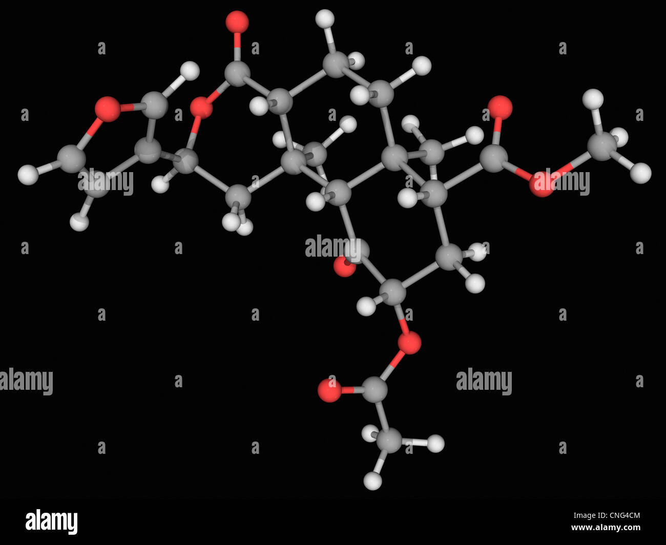 Salvinorin A Wirkstoffmolekül Stockbild