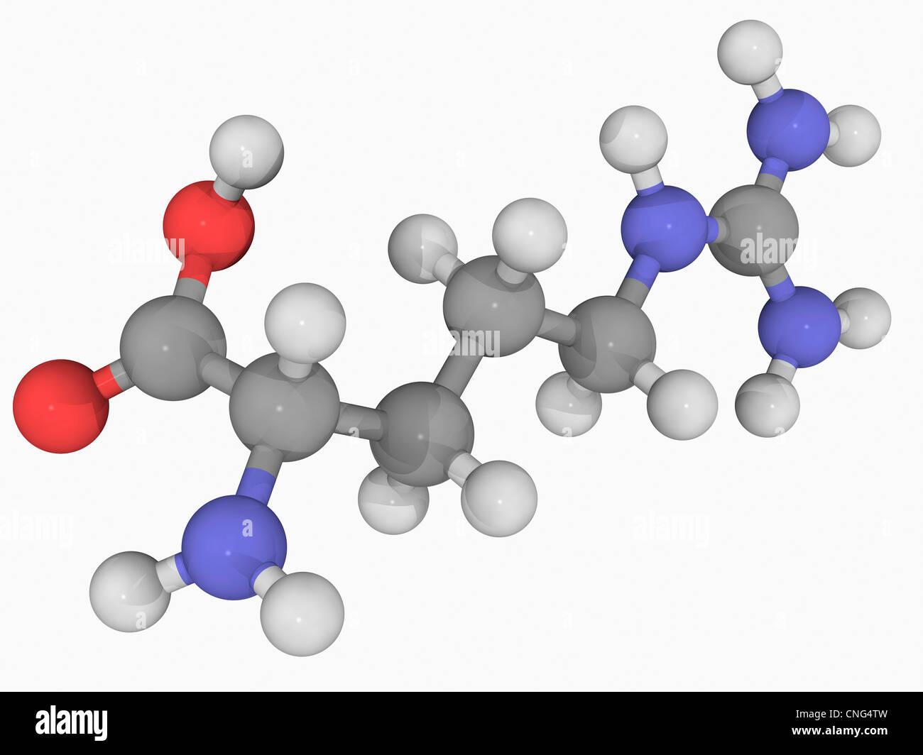 Arginin-Molekül Stockbild