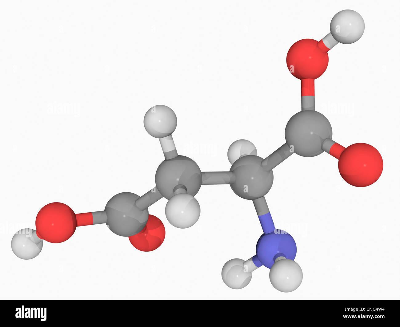 Asparagin-Molekül Stockbild