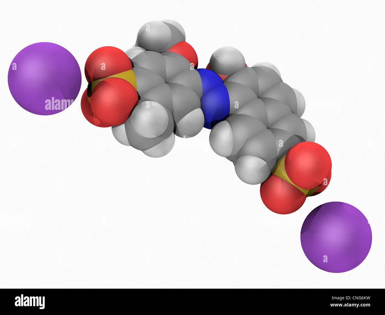 Allura Red AC Molekül Stockbild