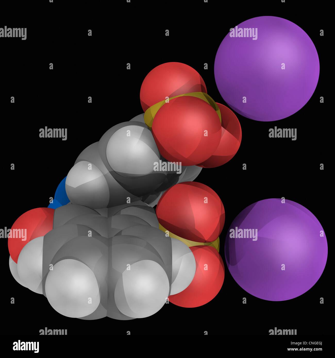 Azorubine Molekül Stockbild