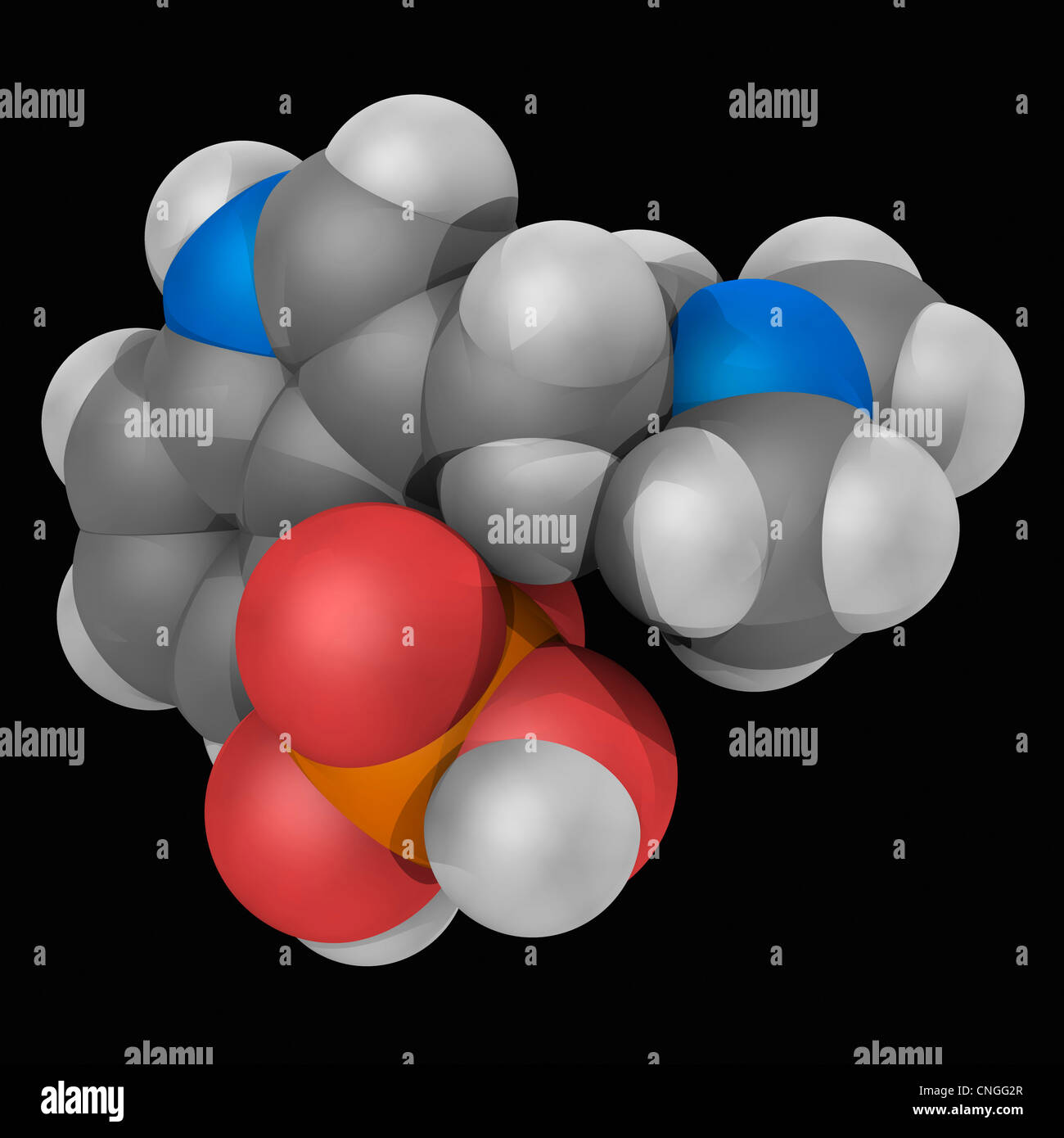 Psilocybin Wirkstoffmolekül Stockbild