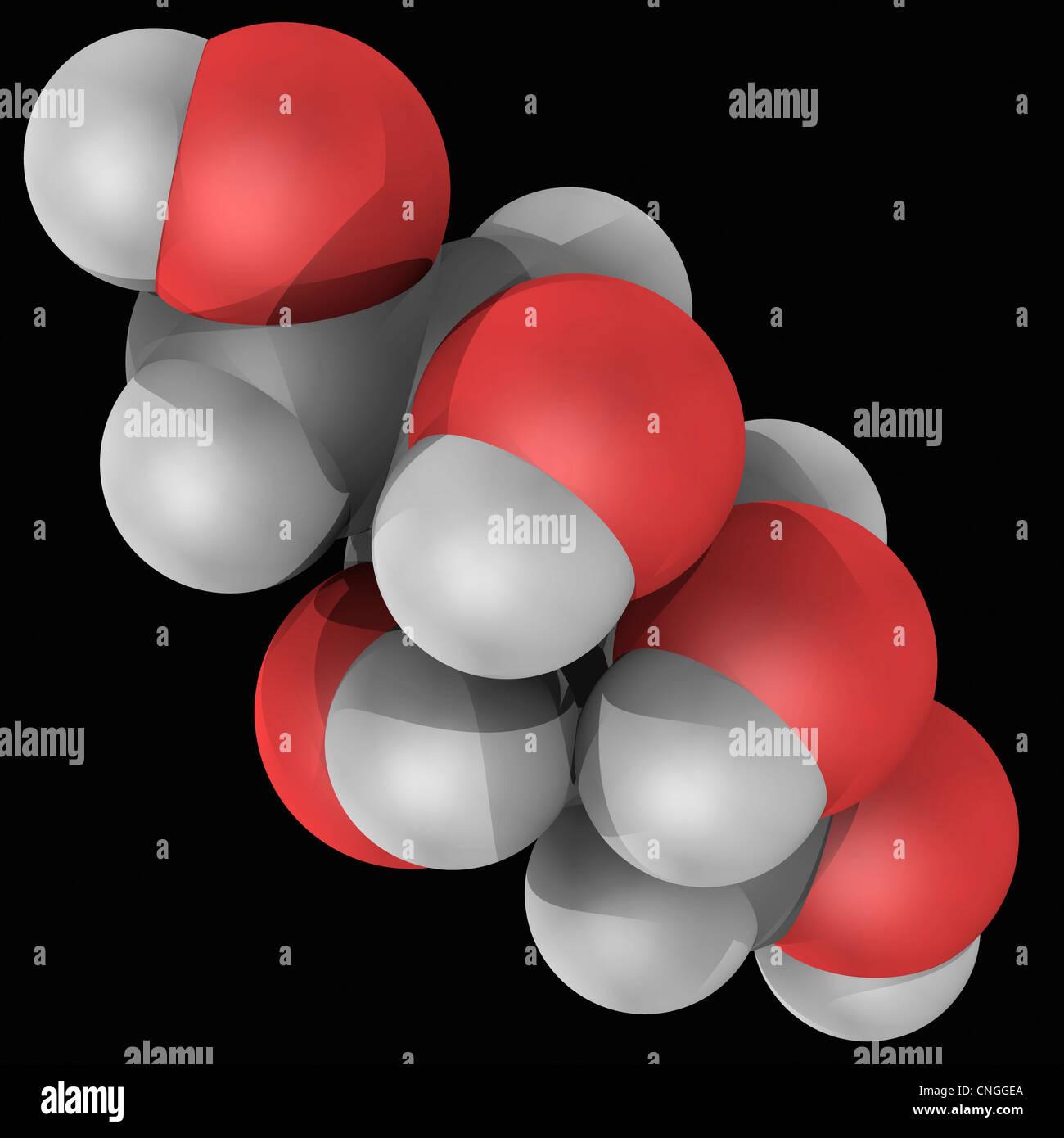 Xylit-Molekül Stockbild