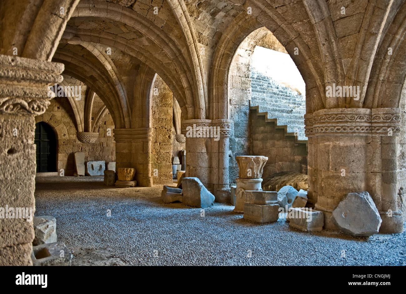 Europa-Griechenland, Dodekanes Inseln, Rhodos, das ehemalige Krankenhaus von St. John's-Ritter, museum Stockbild