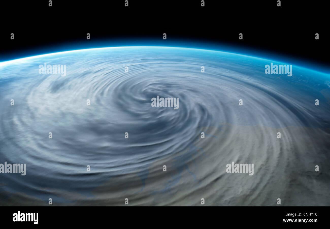 Hurrikan auf dem Planetenerde Stockbild