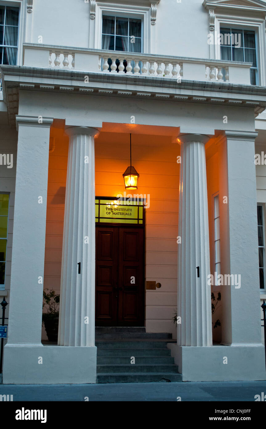 Institut von Mineralien, Listed Haus auf Carlton House Terrace, London, UK Stockbild