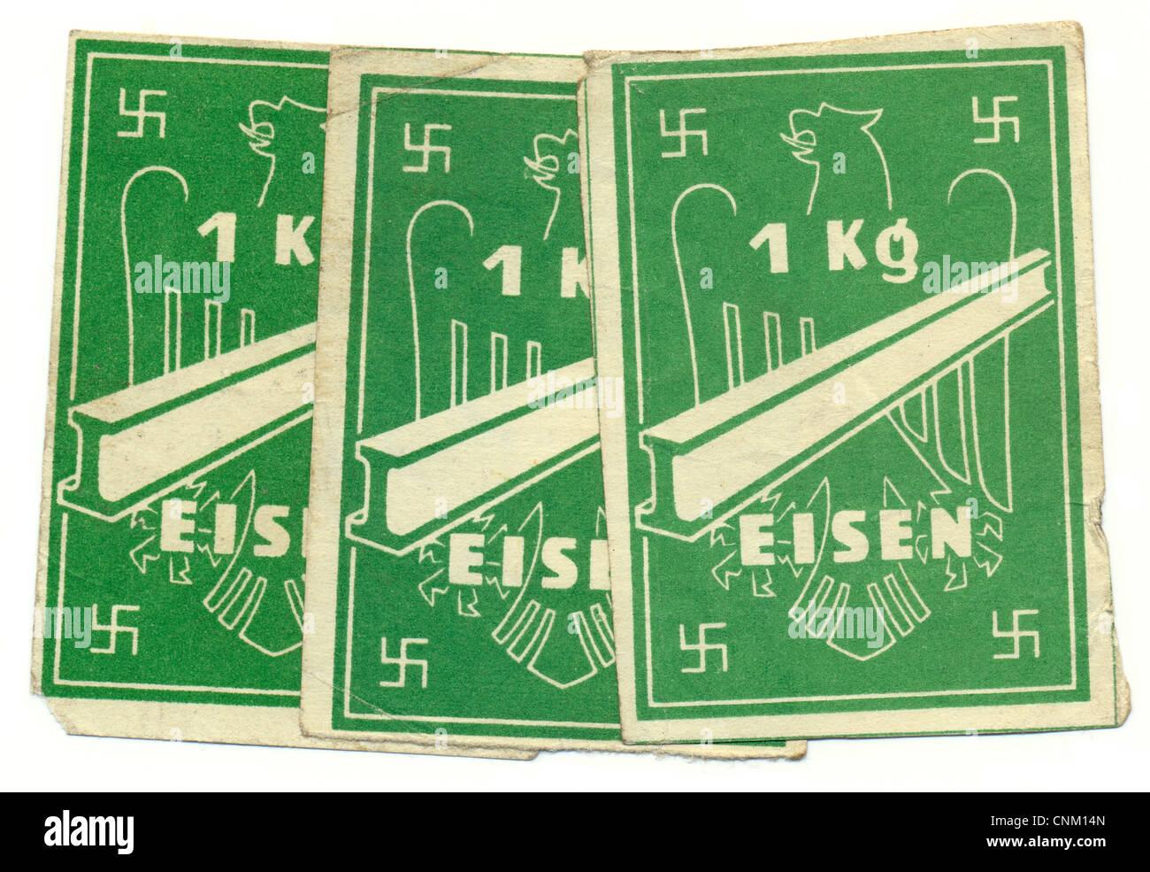ration karte kaufen 1 kg eisen 1939 deutschland europa. Black Bedroom Furniture Sets. Home Design Ideas