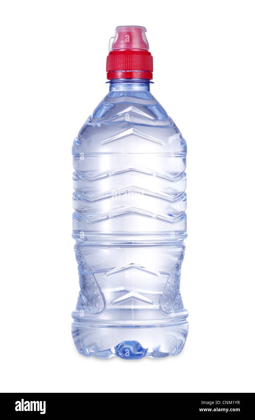 eine Flasche Wasser mit Beschneidungspfad Stockbild