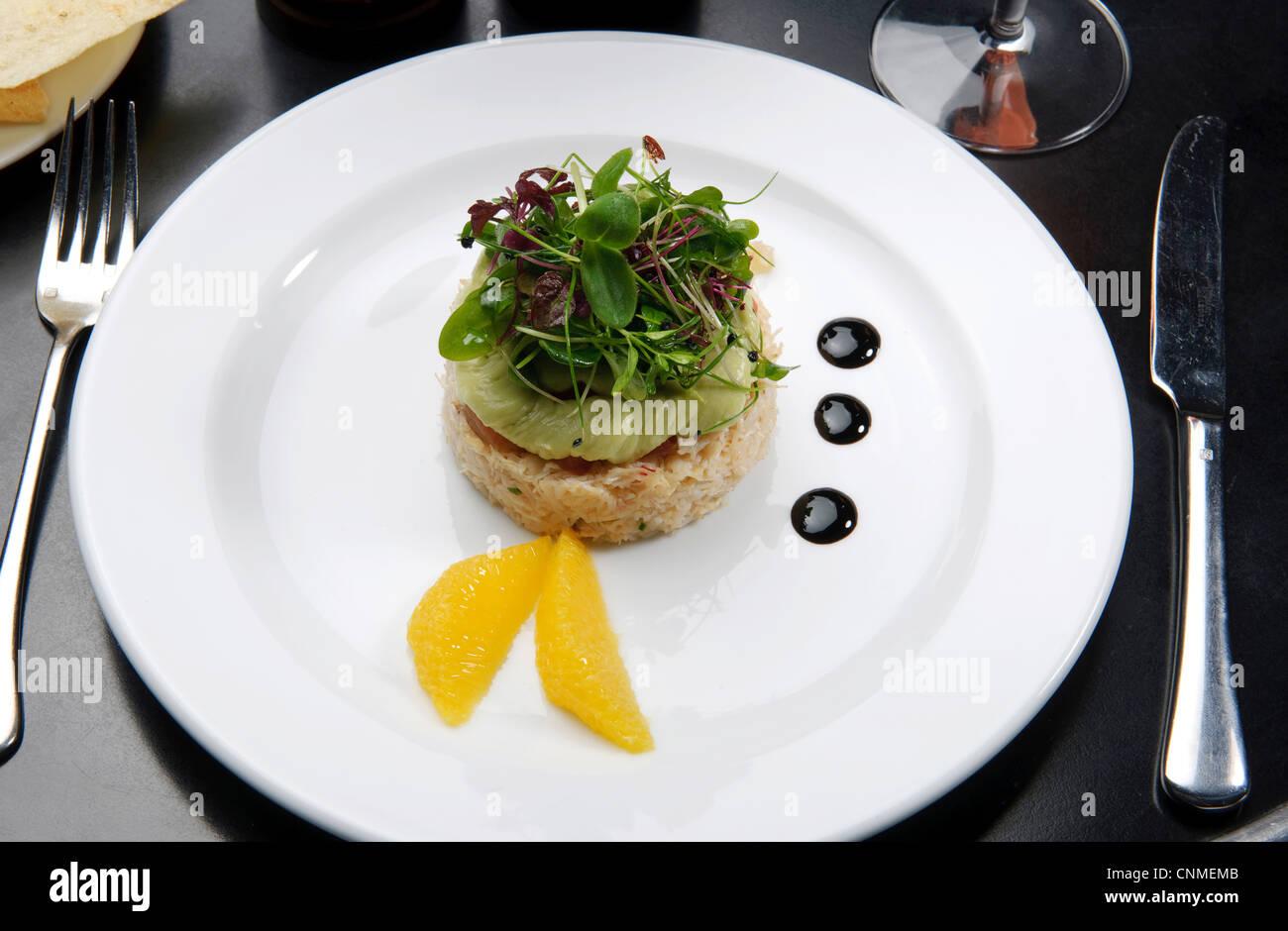 Gourmet Kuche Teuren Restaurant Essen Stockfotografie Alamy