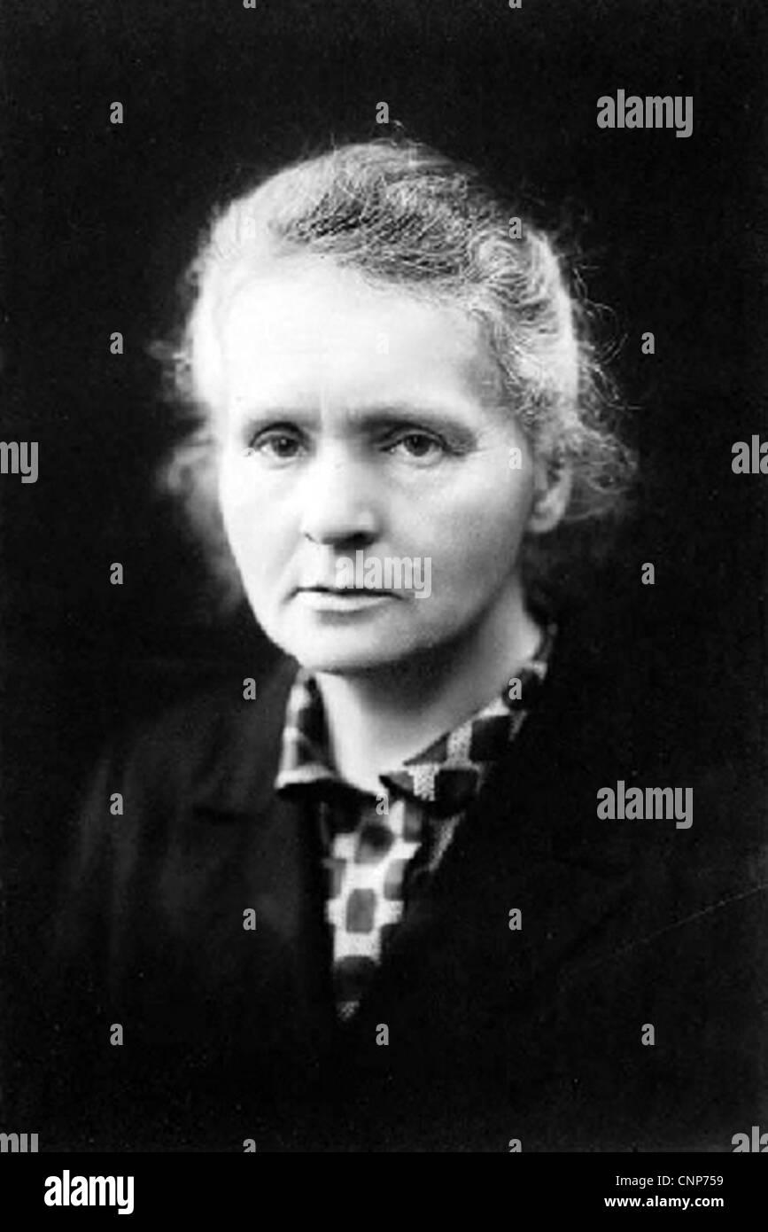 MARIE CURIE (1867-1934) polnischer Physiker, Pionier der Forschung auf Radioaktivität Stockfoto