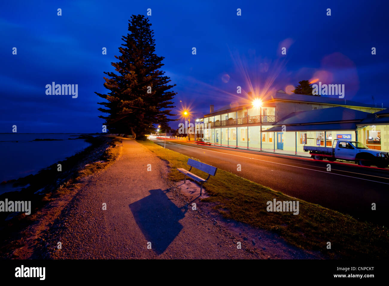 Gewand in der Abenddämmerung. Limestone Coast. Süd-Ost. South Australia. Stockbild