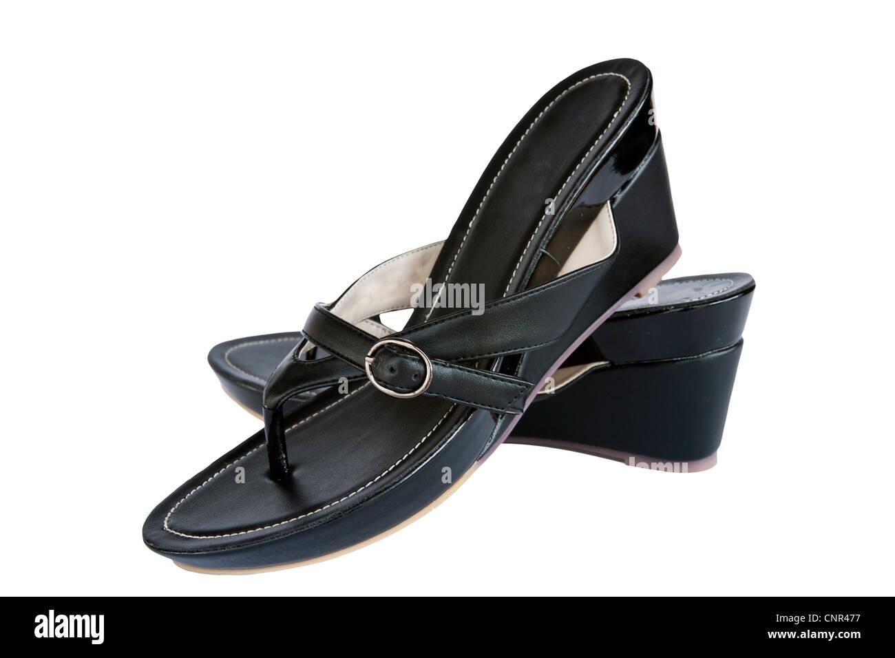 7564840357ae Schwarze high Heel Frauen Schuhe auf weißem Hintergrund Stockbild