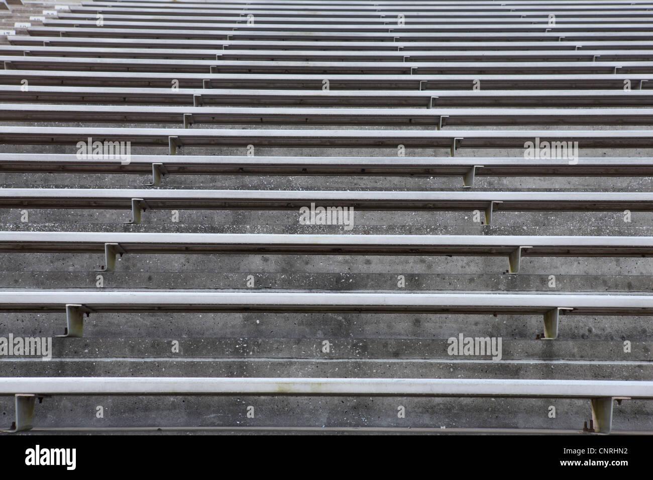 Leere Stadion Tribüne Stockbild