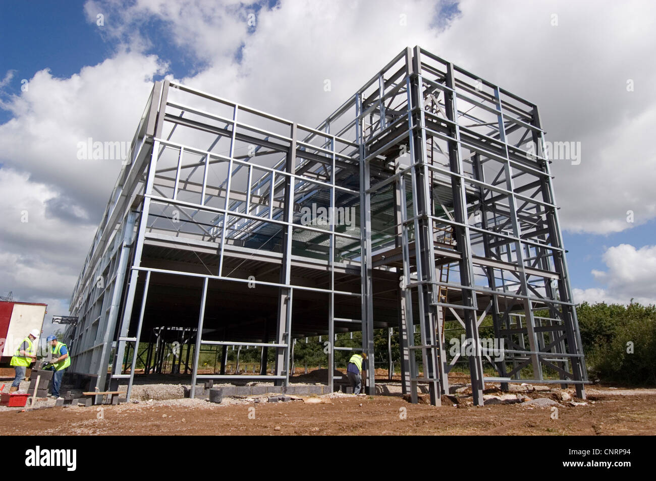 Steel Frame Building Under Construction Stockfotos & Steel Frame ...