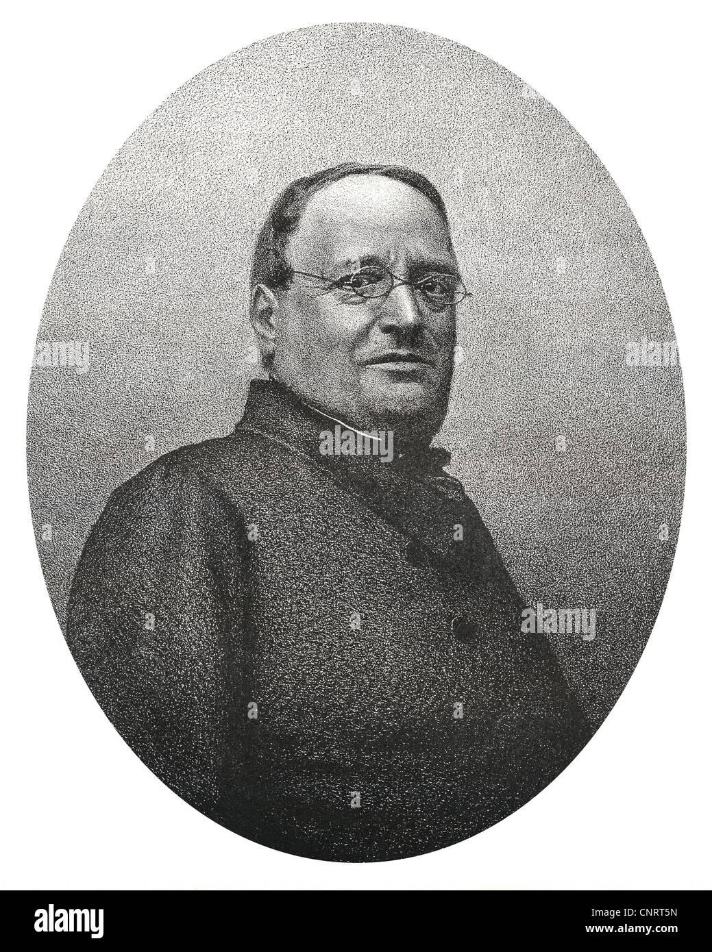 Henry Bonaventure Monnier, 1799-1877, ein französischer Dramatiker, Künstler und Schauspieler, Stockbild