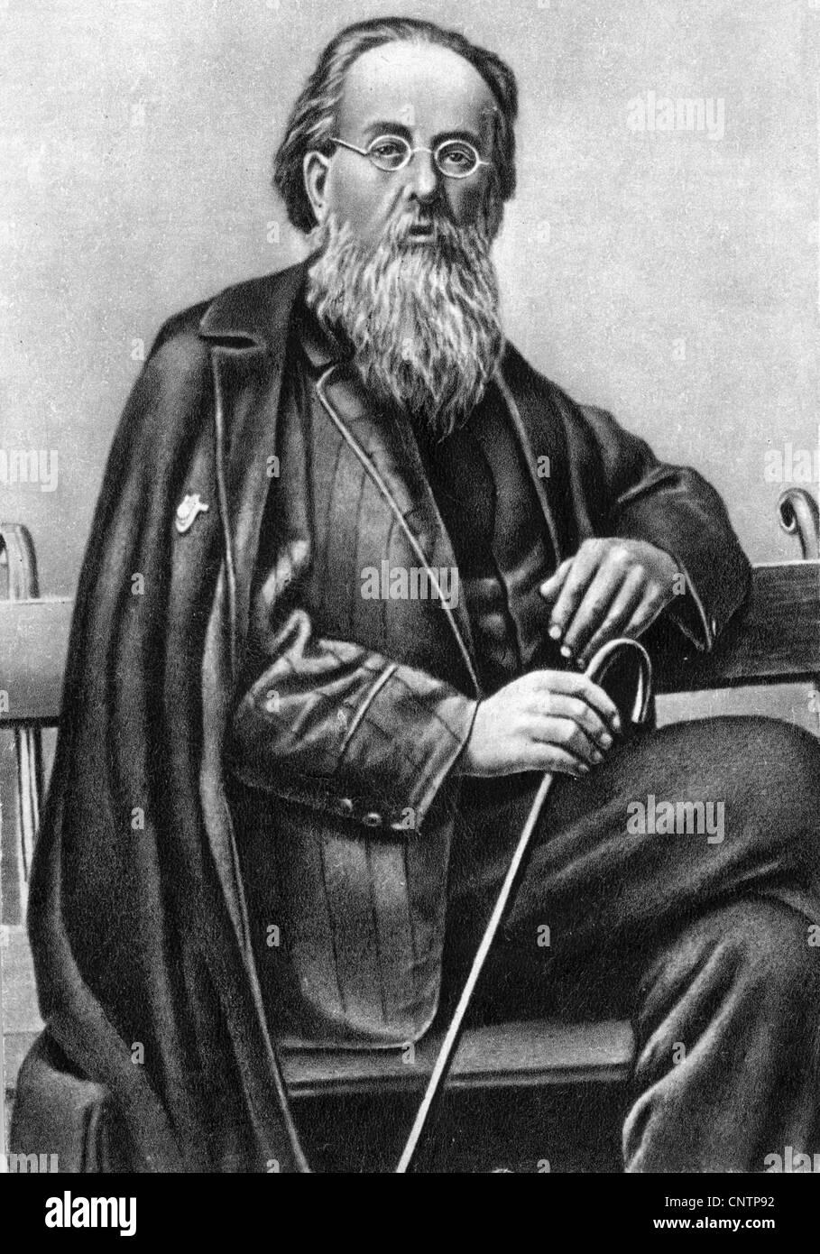 Tsiolkovskii, Konstantin Eduardovich, 17.9.1857 - 19.9.1935, russischer Physiker, Mathematikhistoriker, halbe Länge, Stockfoto