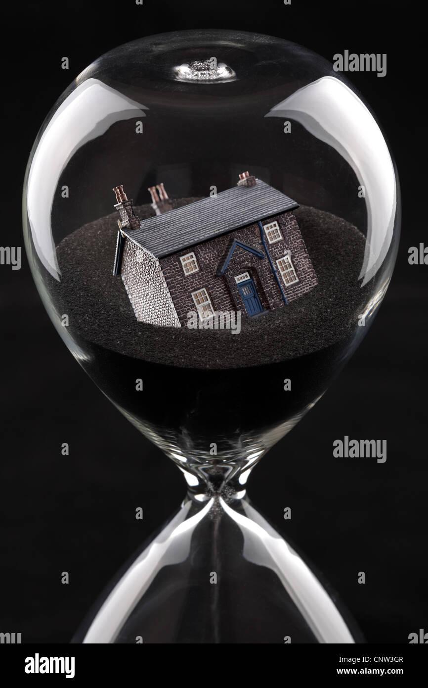 Wohnungsmarkt zusammenbrechen Stockbild