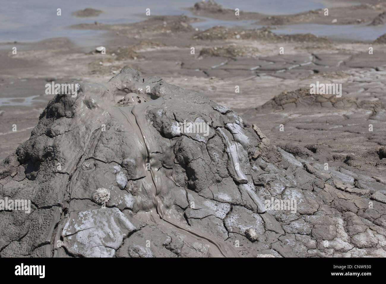 Mini-Vulkane der Schlamm auf den Ätna, Italien, Sizilien Stockbild