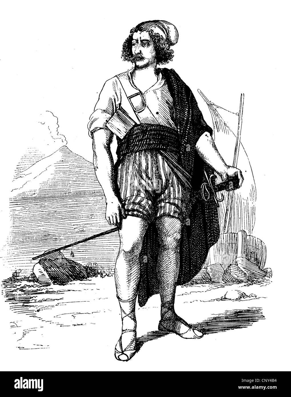 Tommaso Masaniello, Tommaso Aniello, 1620-1647, die wichtigsten Anführer des Aufstandes von Neapel 1647, historische Stockbild