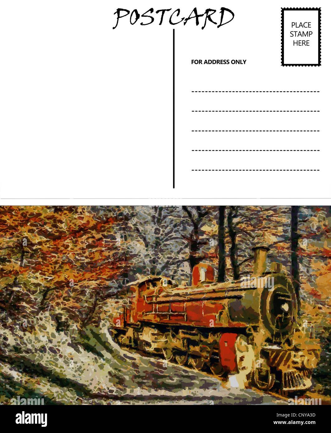 Groß Leere Postkarte Vorlage Frei Zeitgenössisch ...