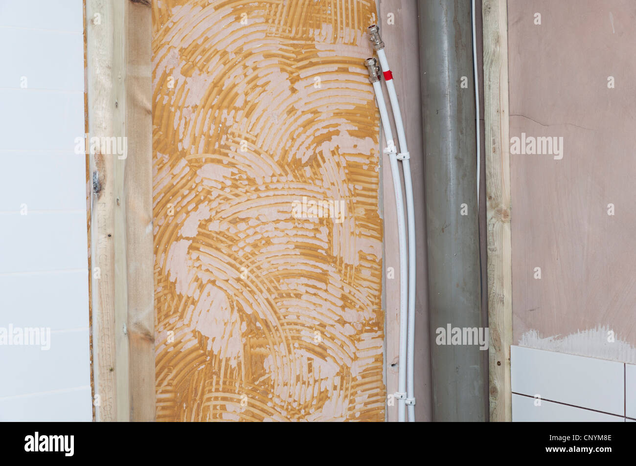 Sanitar Fur Neue Dusche Im Badezimmer Renoviert Stockfoto Bild