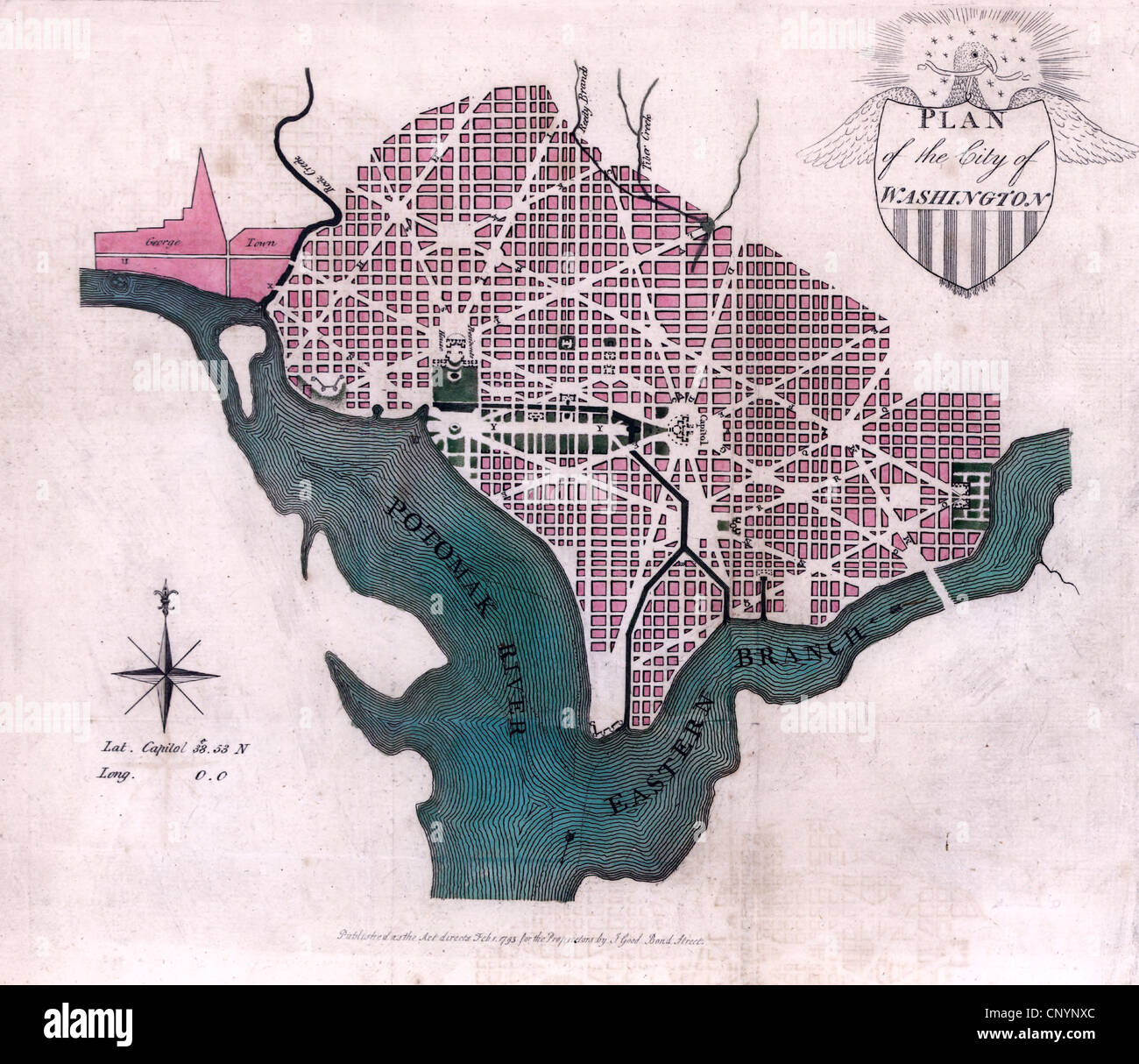 District Of Columbia Map Stockfotos & District Of Columbia Map ... on