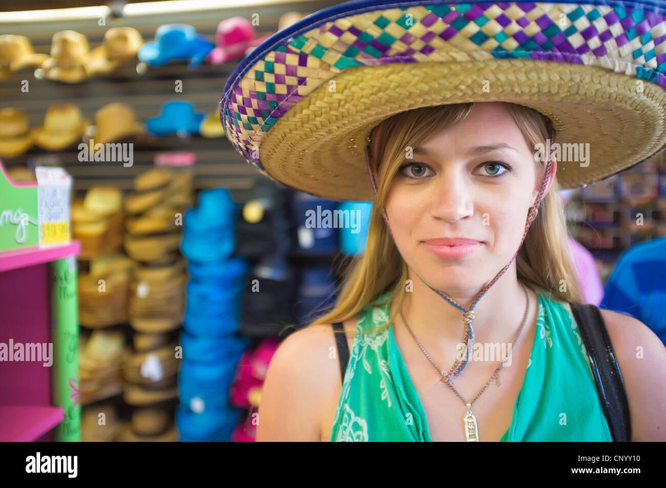 Sombrero frau frau alte junge Meine Frau