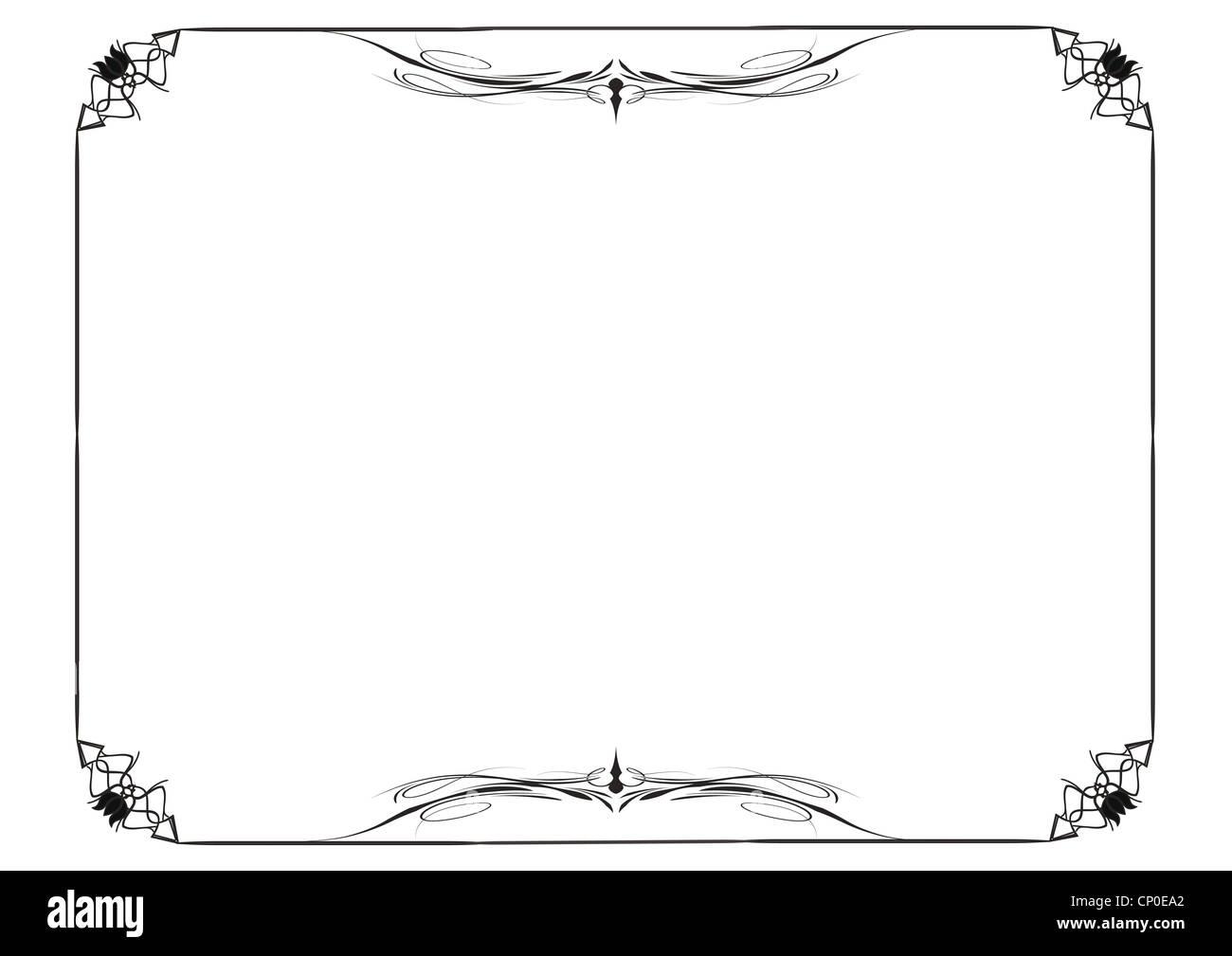 Niedlich, einfache Rahmen können Sie wie Diplom-Rahmen Stockfoto ...