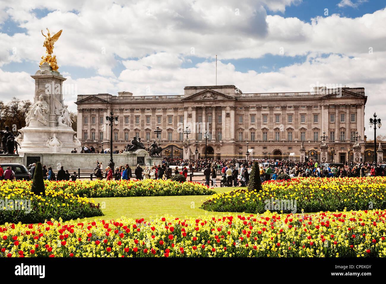 Buckingham Palace, London, England. Stockbild