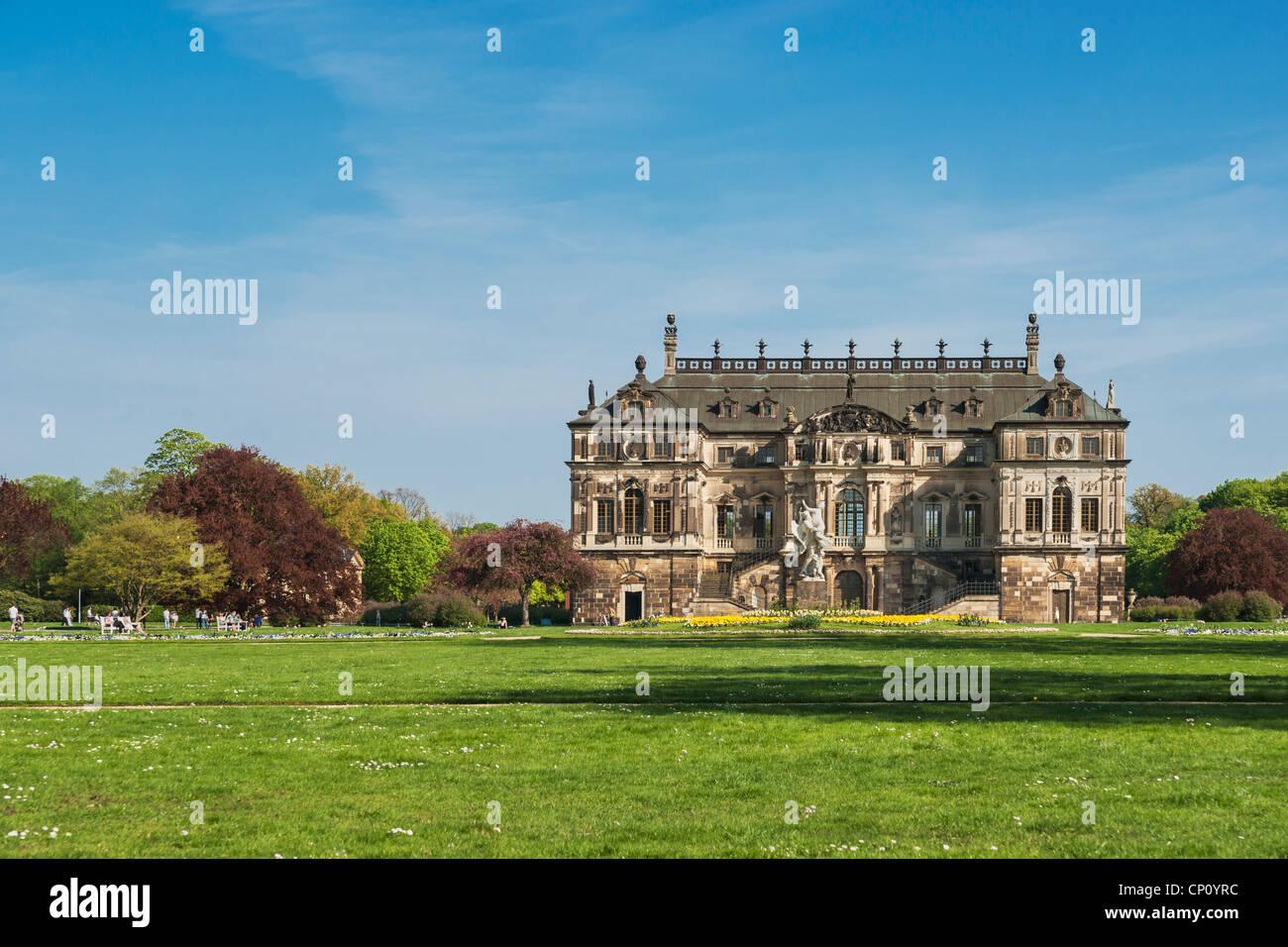 Palais im großen Garten Park, Dresden, Sachsen, Deutschland, Europa Stockbild