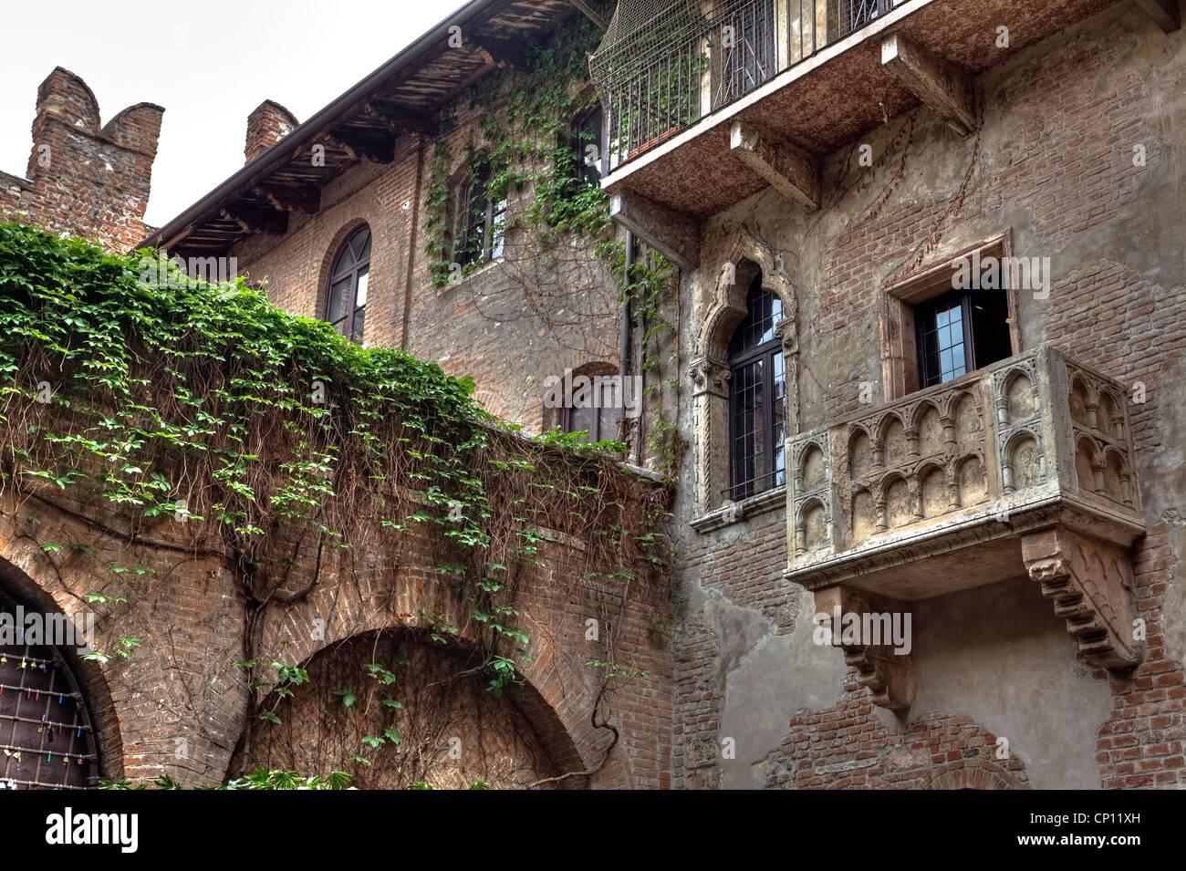 Balkon von Julia, Verona, Veneto, Italien Stockbild