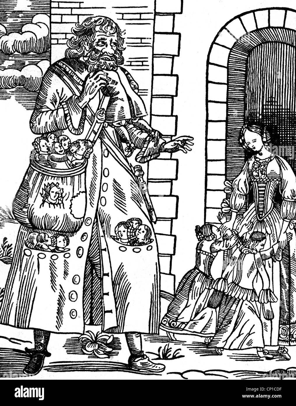 Weihnachten, Saint Nicholas, seine Begleiter Knecht Ruprecht, böse ...