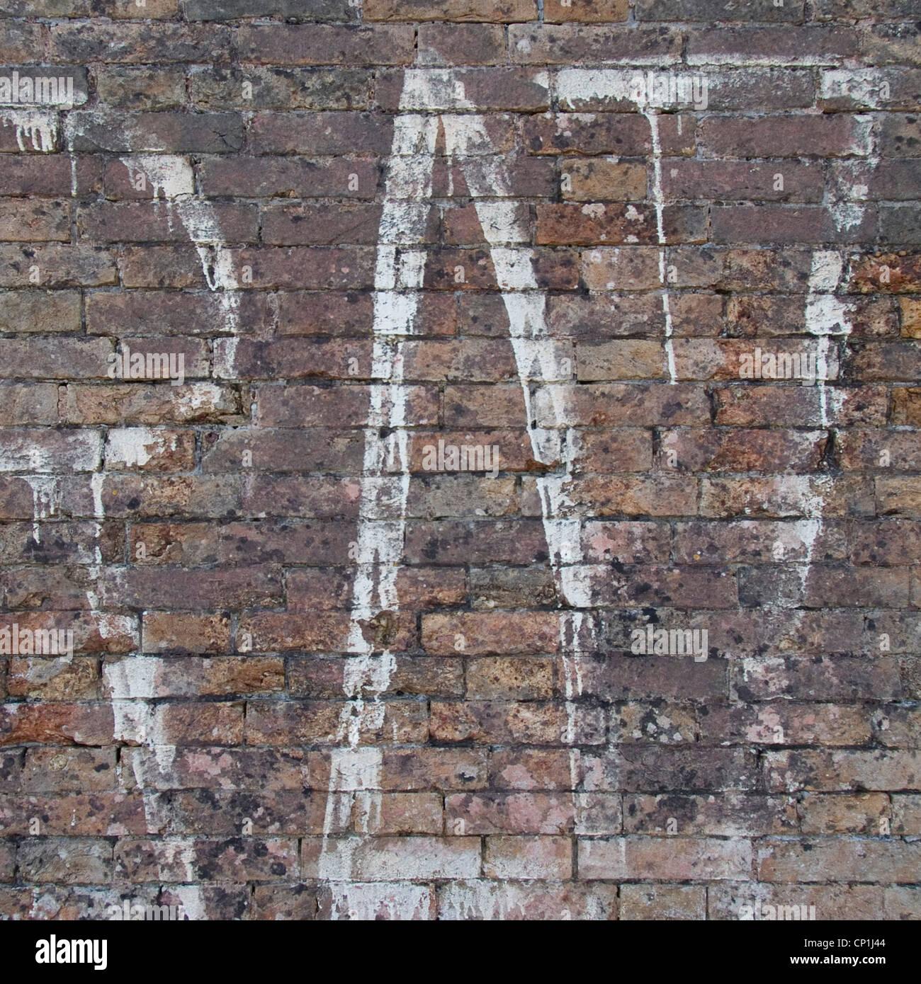 Graffiti auf Mauer, Venedig, Italien. Stockfoto