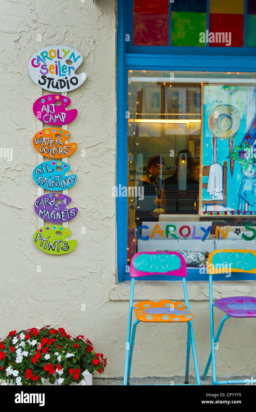 Carolyn Seiler und Freunde Künstler Koop-Shop Gebäude in Cocoa, Florida, USA. Stockbild