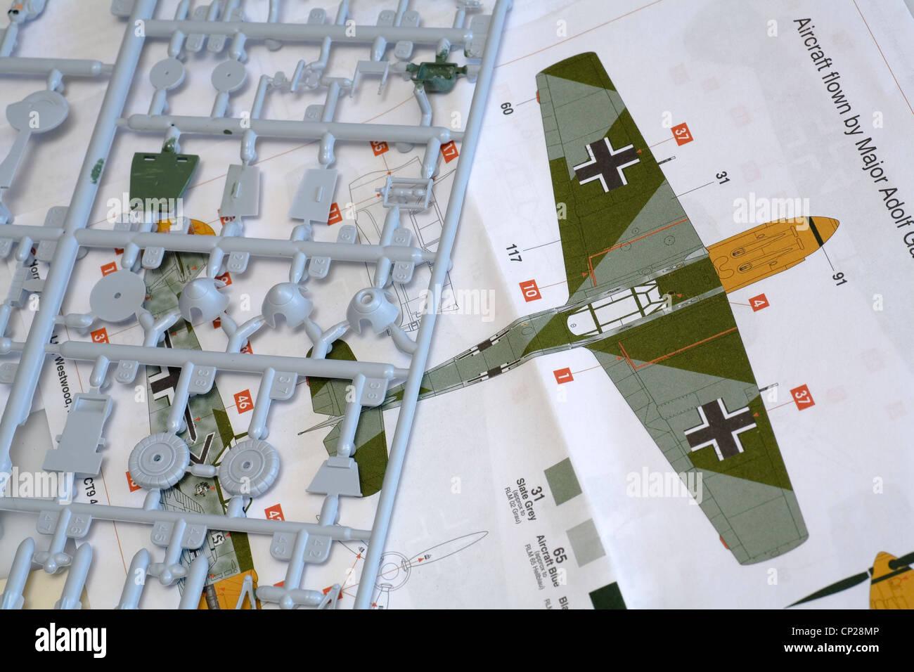 Airfix Messerschmitt Modell Kit Farbe Farbe plant Diagramm ...