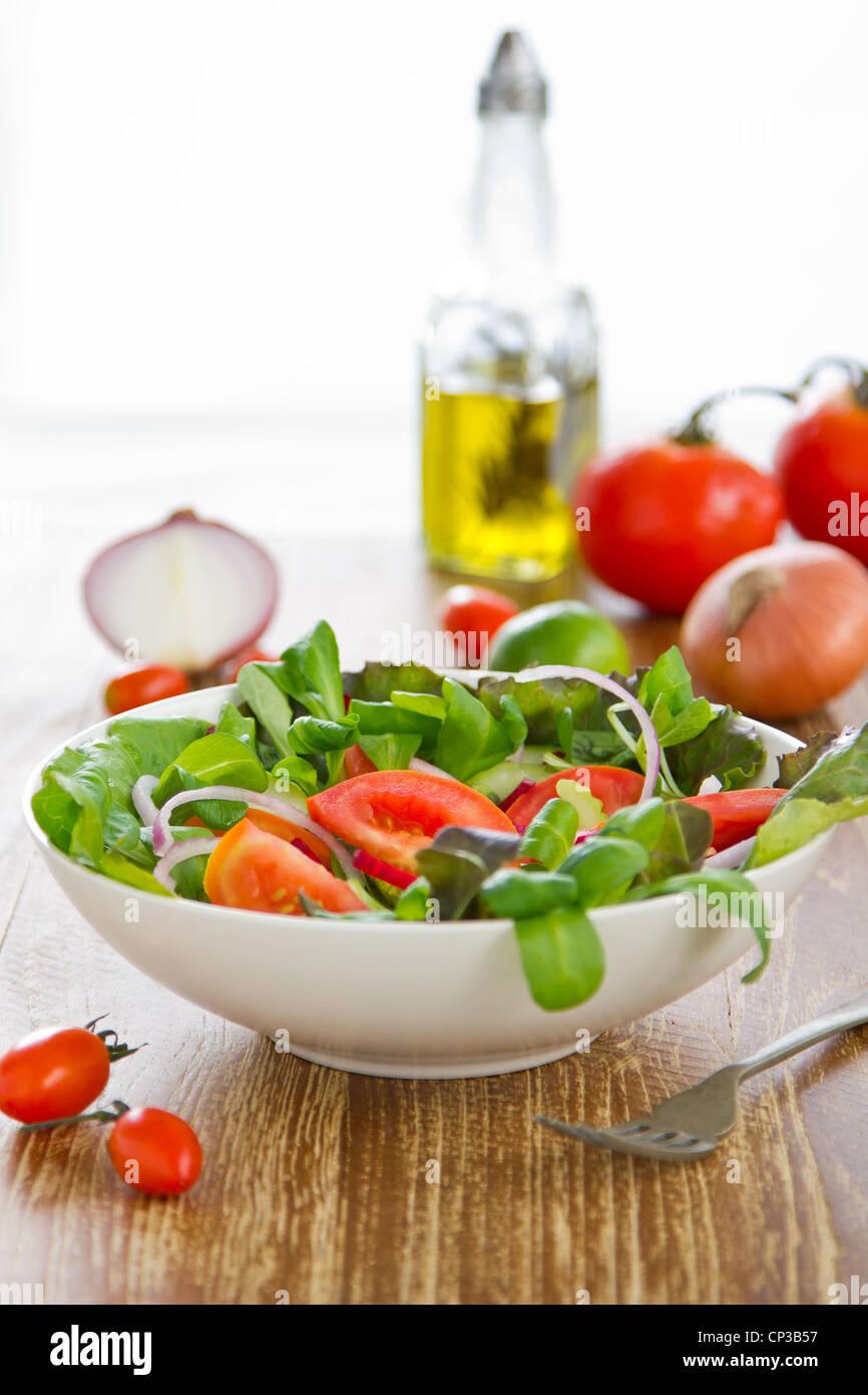 Frisches Gemüse Salat Stockfoto
