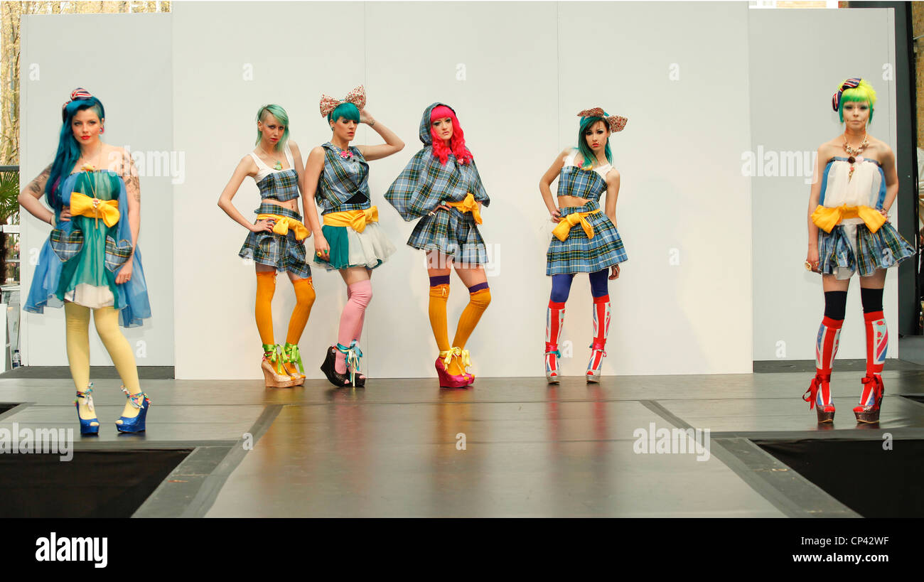 Alternative Fashion Show in London Stockbild