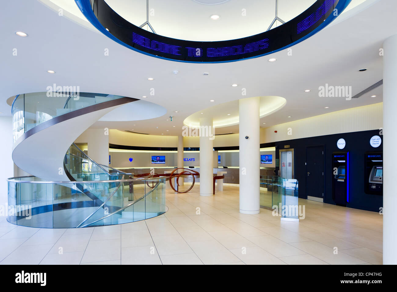 Barclays Bank-Interieur Stockfoto, Bild: 48036956 - Alamy